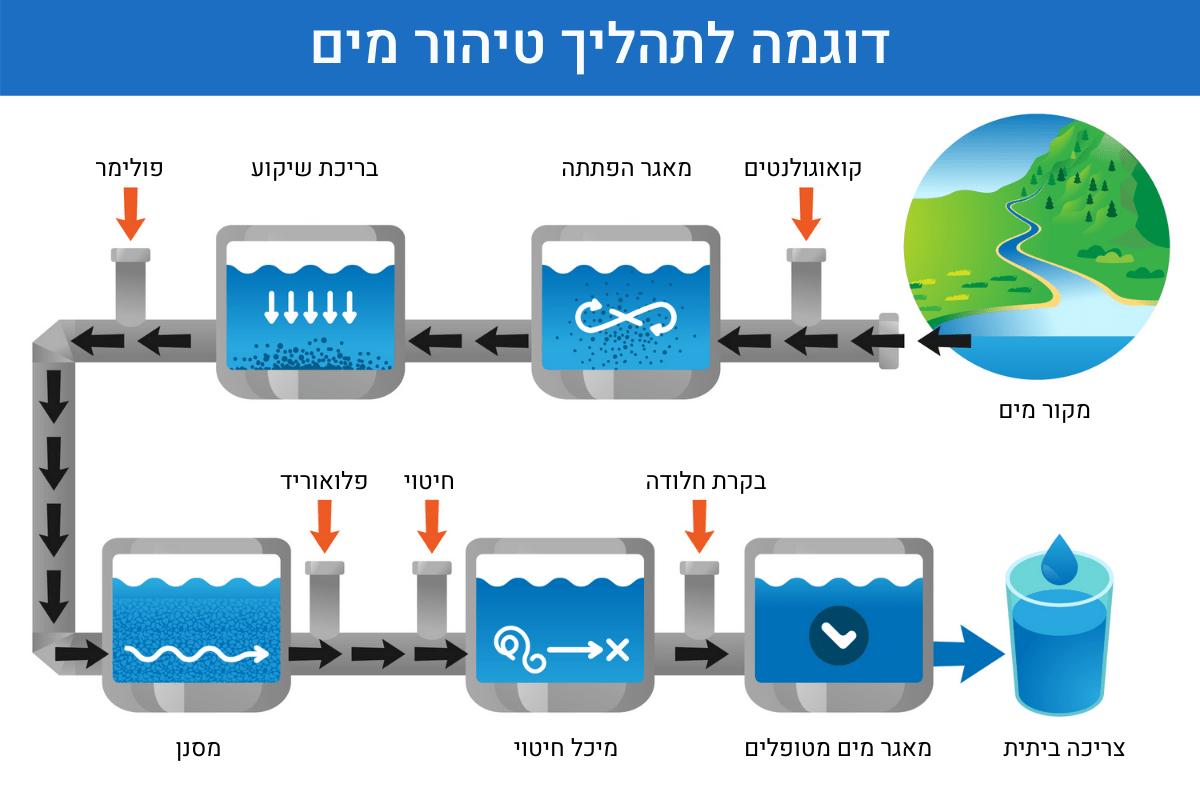 דוגמה לתהליך טיהור מים